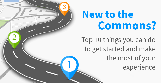 New to the Commons? Top 10 things you can do to get started