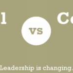 Traditional vs Collaborative Leader Infographic