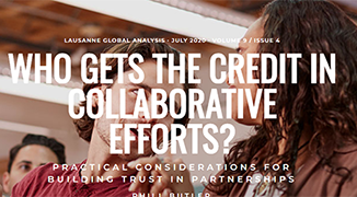 ARTICLE: Who Gets the Credit in Collaborative Efforts